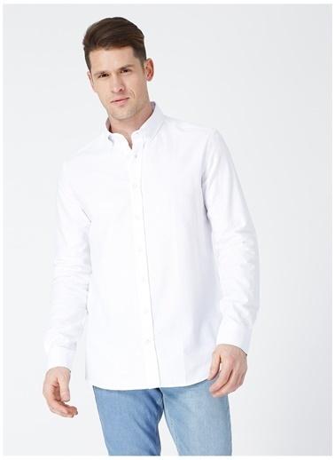 Limon Company Limon Oxford Beyaz Erkek Gömlek Beyaz